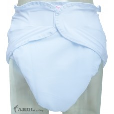 White Washable Velcro Incontinence Diaper