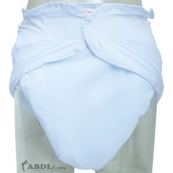 White Washable Velcro Incontinence Diaper