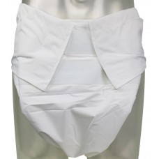 Sumo Style Reusable Diaper PUL Backed, White