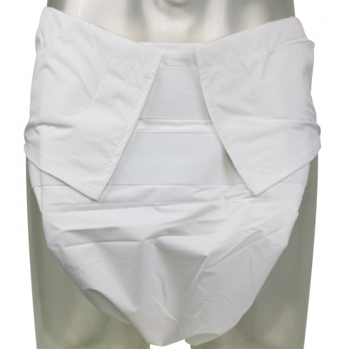 Sumo Style Reusable Diaper PUL Backed, White (CD440) €27.50