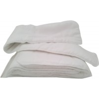 4 Clothdiaper Inserts consisting of 5 Layers Microfibre and Cotton Outer 75x15cm (IK371) €19.95