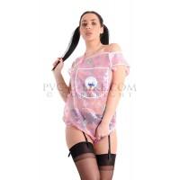 FabiBabi AB PVC Babygrow, Pink Print