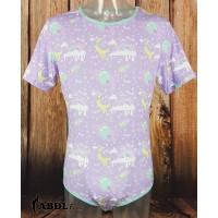 Onesie with Short Sleeves, Purple Space Print (KL358S-2) €17.95
