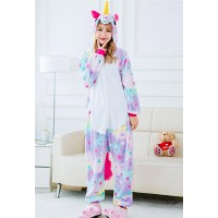 Fleece Kigurumi - Rainbow Unicorn