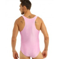 Pink Tanktop Bodysuit for Adults
