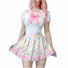 Magical Cosplay Girls Confetti Onesie with Skirt