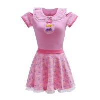 Pink Hello Meow-Meow Onesie with Skirt