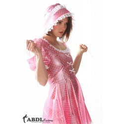 Sissy Bo Peep Dress Pink Polkadot PVC, Ladies