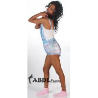 AB PVC Dungeree Pants without Legs, Trans Blue Print (KL321BP-2) €40.50