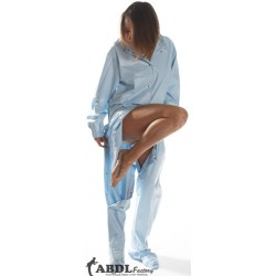 AB Baby Grow Pajama from PVC - Solid Baby Blue