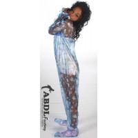 AB Baby Grow Pajama from PVC - Semi Trans Blue Nursery Print (KL323BP-2) €85.00