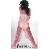 AB Baby Grow Pajama from PVC - Semi Trans Pink (KL323TP-2) €85.00