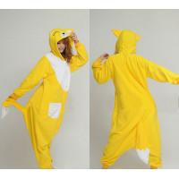 Kigurumi Cartoon Onesie Coral Fleece - Yellow Fox