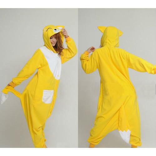 Kigurumi Cartoon Onesie Coral Fleece - Yellow Fox (KL335-2) €23.50