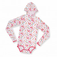 Long Sleeve Hooded Onesie, Lil Bella Print