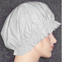 Mob Cap White PVC
