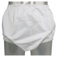 Pull-On PVC Pants with Narrow Elastics, White or Transparant