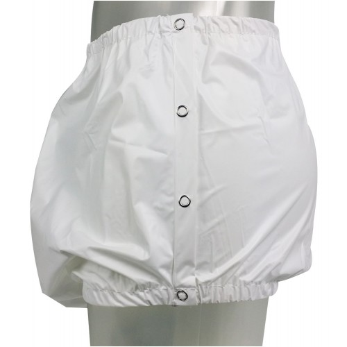 PVC Pants Snaps on the Side, White or Transparant (PB267W) €10.50