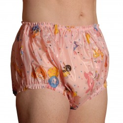 Christy Plastic Pants, Nursery Print