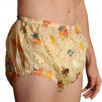 Christy Plastic Pants, Nursery Print