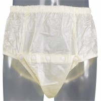 Front Open Plastic Pants with Snaps (PB249) €13.50