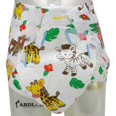 Rearz Safari Print, Crazy Absorbent Plastic Backed