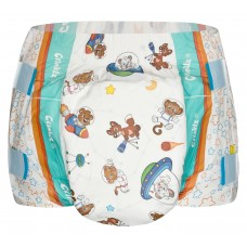 Crinklz ASTRONAUT Print Slip Diapers, Plastic Backed