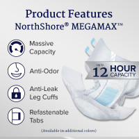 Northshore MegaMax Slip, Plastic Backed, Multicolor