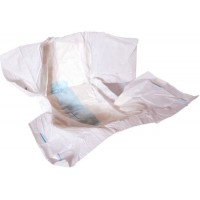 Forsite Slip AM-PM Max. Absorbency, Plastic Backed, ALL WHITE (PL771WHITE) €18.95