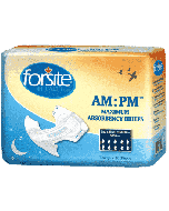 Forsite Slip AM-PM Max. Absorbency, Plastic Backed, ALL WHITE
