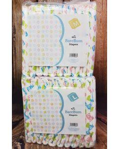 ABU BareBum Print Diapers,Plastic Backed