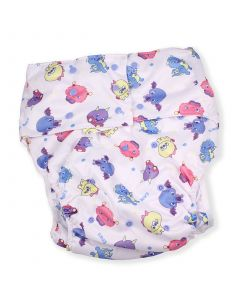 Adult Pocket Diaper with Lil Monsters Print