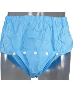 Front Open Plastic Pants with Snaps