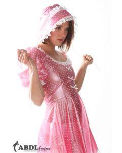 Sissy Bo Peep Dress Pink Polkadot PVC, Ladies