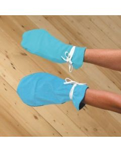 Terrycloth Gloves with Buckle
