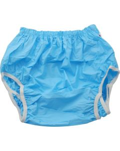 Plastic pants with double anti-leak bariers
