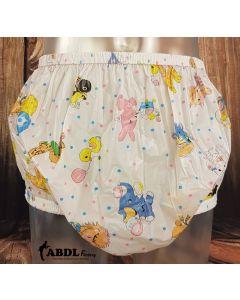 Gary PVC Pants, Pink Carousel Print