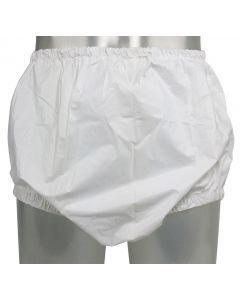 Pull-On PVC Pants with Narrow Elastics, White or Transparant