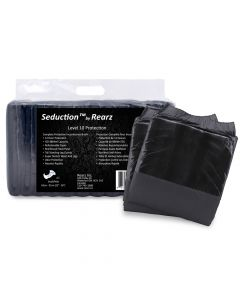 Rearz Seduction Black, Crazy Absorbent Plastic Backed